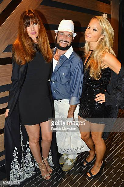 Carol Alt Phillip Bloch and Indira Cesarine attend Interview Topshop Celebrate the Interview September Issue at Kola House on September 13 2016 in...
