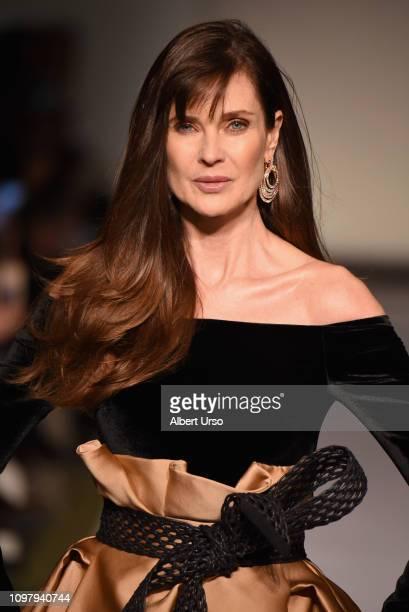 Carol Alt walks the runway for the Dennis Basso fashion show during New York Fashion Week The Shows at Cipriani 42nd Street on February 11 2019 in...