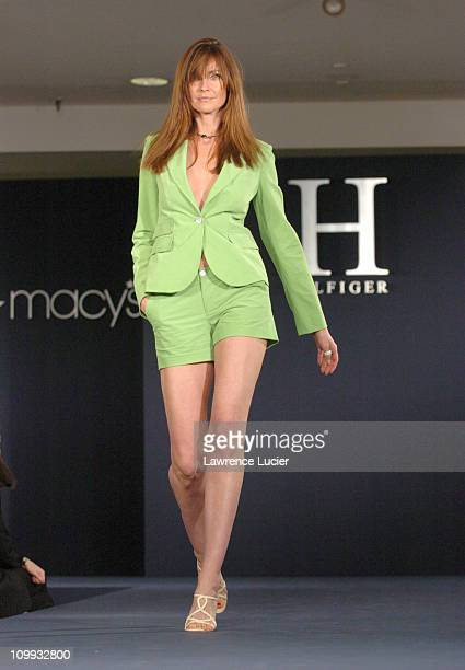 Carol Alt wearing H Hilfiger Spring 2004 during H Hilfiger Spring 2004 Fashion Show at Macy's Herald Square in New York City New York United States