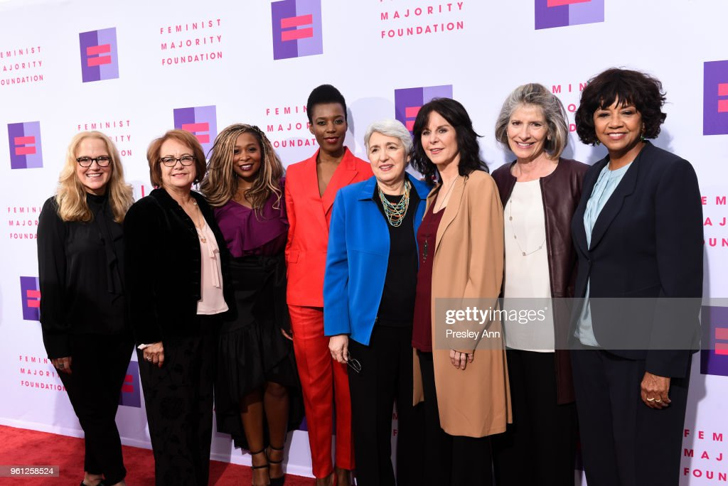 Carol Ann Leif, Maria Eleana Durazo, Adama Iwu, Elizabeth Nyamayaro, Eleanor Smeal, Mavis Leno, Kathy Spillar and Cheryl Boone Isaacs attend 13th Annual Global Women's Rights Awards at Wallis Annenberg Center for the Performing Arts on May 21, 2018 in Beverly Hills, California.
