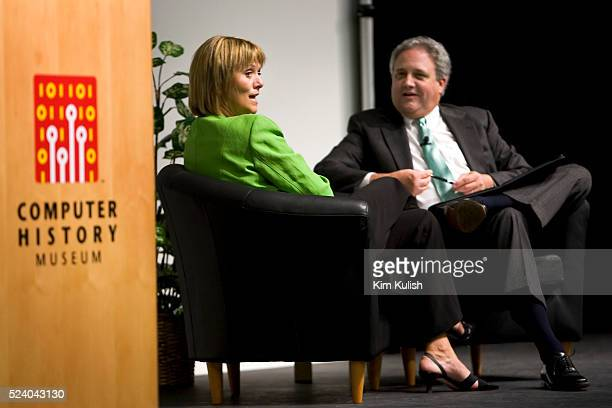 Carol Bartz, Chairman of the Board, President, and CEO Autodesk speaks with veteran Silicon Valley author and journalist Michael Malone, at the...