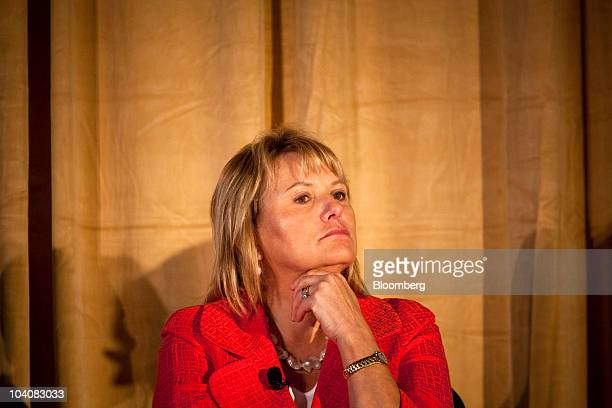 Carol Bartz, chief executive officer of Yahoo! Inc., speaks at an Ad Club of New York seminar in New York, U.S., on Tuesday, Sept. 14, 2010....