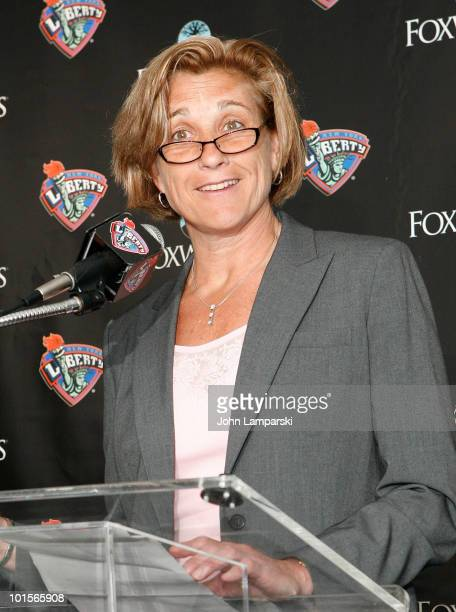 Carol Blazejowski attends a press conference at Madison Square Garden on June 2 2010 in New York City