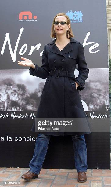 Carol Bouquet during Carol Bouquet at the The Northeastern Photocall in Madrid in Madrid Spain