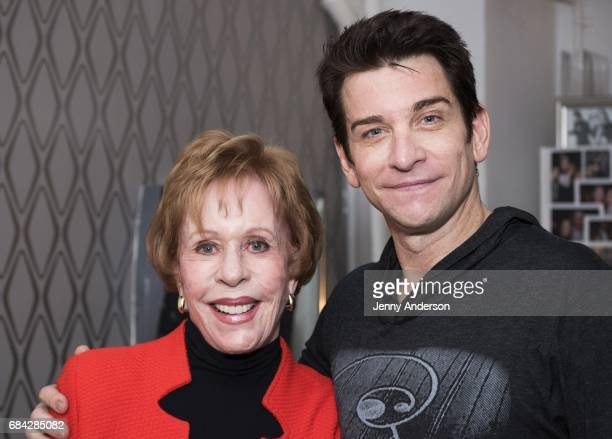 Carol Burnett and Andy Karl backstage attend Groundhog Day on Broadway at August Wilson Theatre on May 16 2017 in New York City
