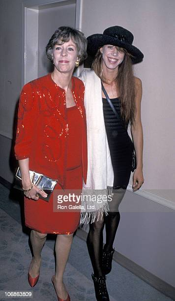 Carol Burnett and Carrie Hamilton during Birthday Tribute to Ella Fitzgerald Hosted by the Society of Singers - April 28, 1989 at Beverly Hilton...