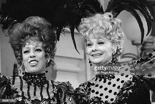 Carol Burnett and guest star, Lucille Ball on THE CAROL BURNETT SHOW, September 23, 1967.