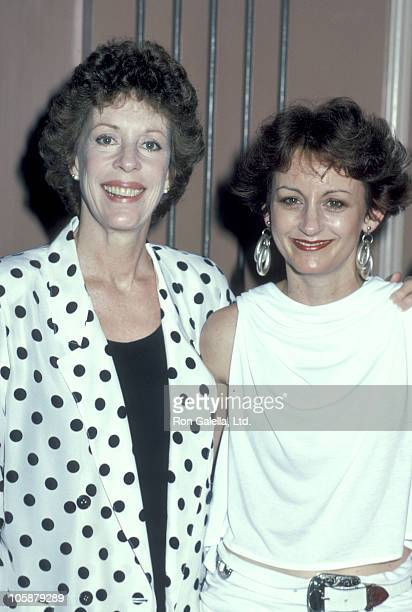 Carol Burnett and Jody Hamilton during 5th Annual MotherDaughter Fashion Show March 27 1986 at Beverly Hilton Hotel in Beverly Hills California...