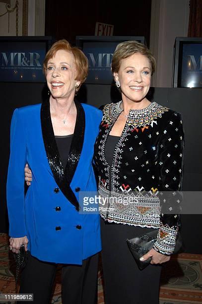 Carol Burnett and Julie Andrews during Museum of Television Radio Gala Honoring Julie Andrews and Carol Burnett at WaldorfAstoria in New York NY...