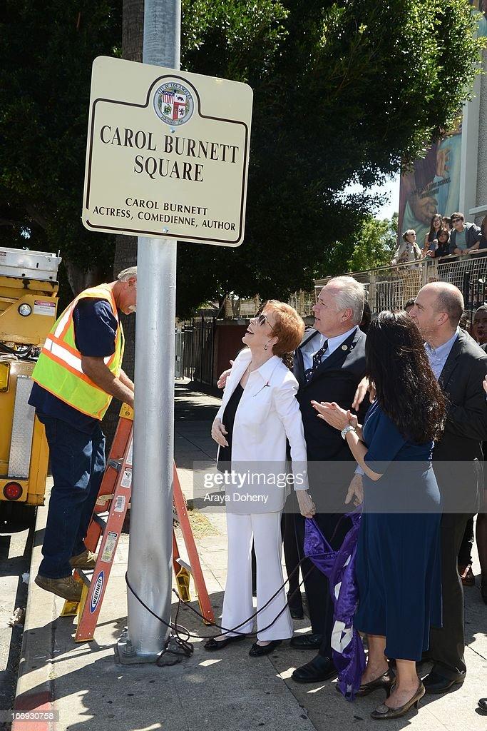 "The City Of Los Angeles Honors Carol Burnett With Naming Of ""Carol Burnett Square"""