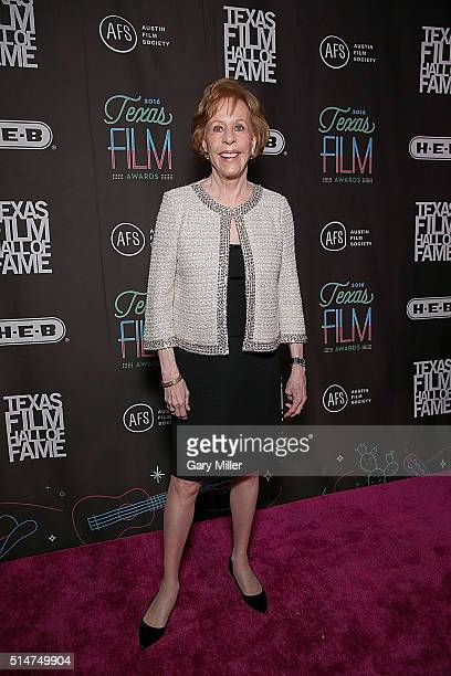 Carol Burnett attends the Austin Film Society's 2016 Texas Film Awards at Austin Studios on March 10 2016 in Austin Texas