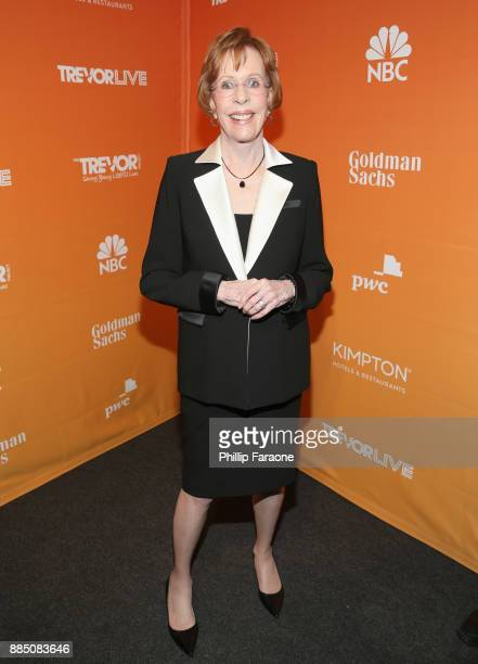 Carol Burnett attends The Trevor Project's 2017 TrevorLIVE LA Gala at The Beverly Hilton Hotel on December 3 2017 in Beverly Hills California