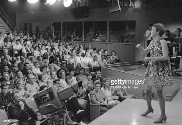 Carol Burnett interacting with the audience of THE CAROL BURNETT SHOW, October 7, 1967.
