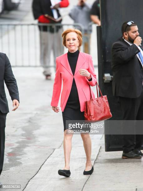 Carol Burnett is seen arriving at 'Jimmy Kimmel Live' on April 30 2018 in Los Angeles California