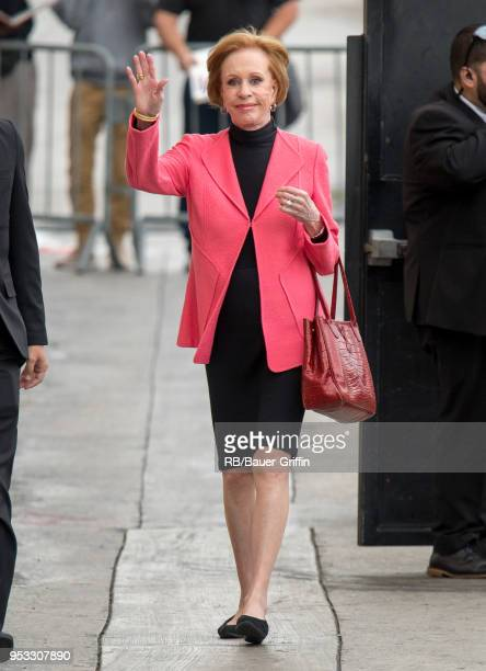 Carol Burnett is seen at 'Jimmy Kimmel Live' on April 30 2018 in Los Angeles California