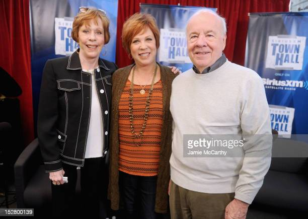 Carol Burnett Vicki Lawrence and Tim Conway attend the SiriusXM Town Hall with Carol Burnett at SiriusXM Studios on September 26 2012 in New York City