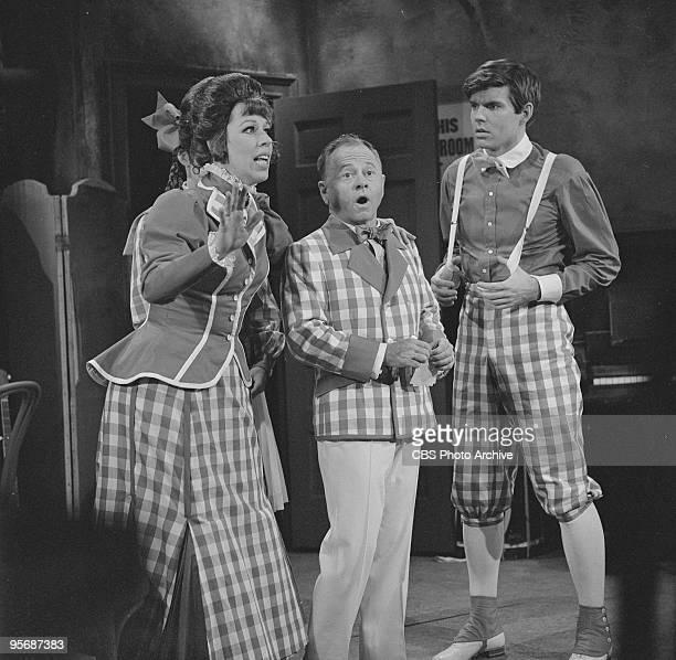 Carol Burnett with guest stars Mickey Rooney and John Davidson on THE CAROL BURNETT SHOW, December 2, 1967.