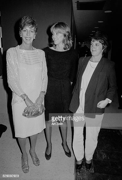 Carol Burnett with her daughters at a formal event; circa 1970; New York.