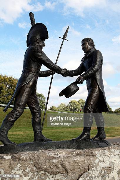 Carol CA Grende's Lewis and Clark When They Shook Hands The Lewis and Clark Expedition Began statue overlooking the Falls Of The Ohio River on...
