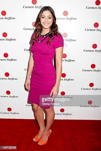 Carol Castro attends the Carmen Steffens U.S. West coast flagship store opening at Hollywood & Highland Center on August 2, 2012 in Hollywood,...