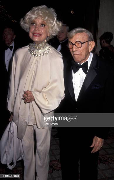Carol Channing and George Burns during 21st Annual Scopus Award Gala at Century Plaza Hotel in Century City, California, United States.