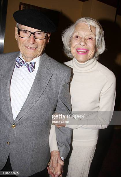 """Carol Channing and husband Harry Kullijian attend a screening for """"Carol Channing: Larger Than Life"""" at Chelsea Clearview Cinemas on April 28, 2011..."""