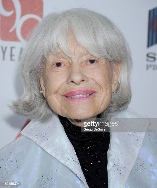 Carol Channing arrives at the 6th Annual A Fine Romance to benefit the Motion Picture Television Fund at Sony Studios on October 15 2011 in Culver...