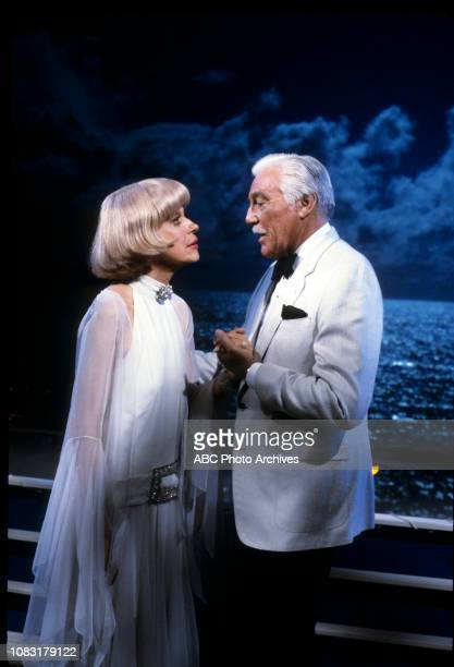 Carol Channing Cesar Romero appearing on the ABC tv series 'The Love Boat' episode 'No More Alimony / How Do I Love Thee / Authoress Authoress' aired...