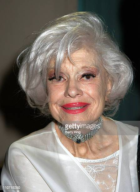 Carol Channing during Academy Of Television Arts & Sciences Presents TV Cares: Ribbon Of Hope Celebration 2004 at Leonard H. Goldenson Theatre in...