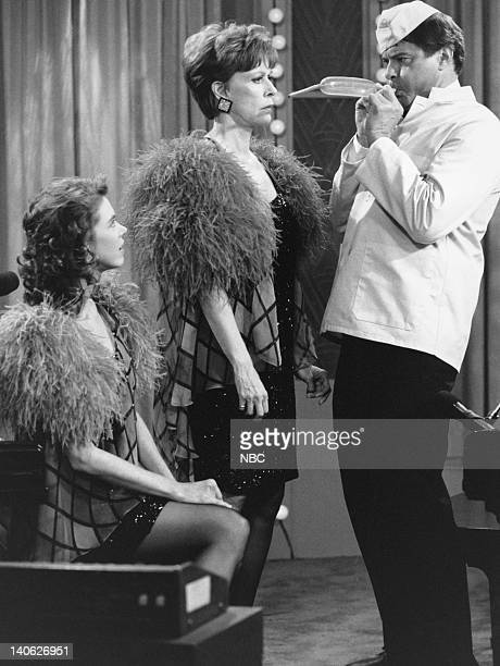 """Carol & Company -- """"The Fabulous Bicker Girls"""" -- Aired 5/12/90 -- Pictured: Carrie Hamilton and Carol Burnett as Babe and Baby Bicker, Robert Urich..."""