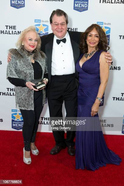 Carol Connors Bruce Gold and Freda Payne attend The Thalians Holiday Party with Kira Reed Lorsch as Chair at Bel Air Country Club on December 1 2018...