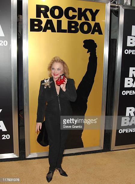 Carol Connors during Rocky Balboa World Premiere Arrivals at Grauman's Chinese Theatre in Hollywood California United States