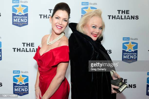 Carol Connors joins Kira Reed Lorsch as they attend The Thalians Holiday Party with Kira Reed Lorsch as Chair at Bel Air Country Club on December 1...
