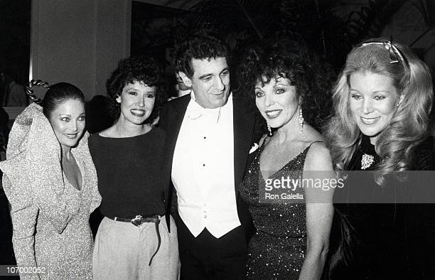 Carol Connors Melissa Manchester Placido Domingo Joan Collins and guest