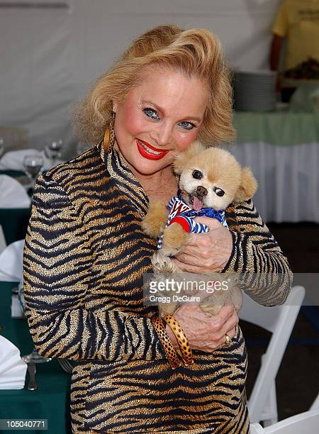 Carol Connors Mr Winkle the dog during Pet Orphan Fund Presents Pet Spectacular at Staples Center in Los Angeles California United States