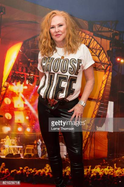 Carol Decker of T'Pau poses for photographers on Day 2 of Rewind Festival at Scone Palace on July 22 2017 in Perth Scotland