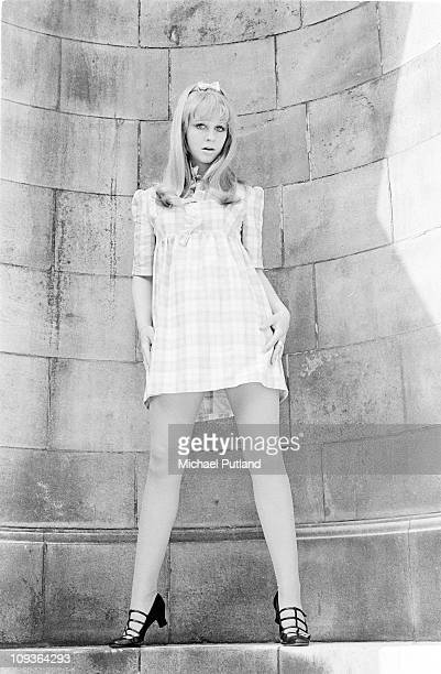 Carol Dilworth actress and hostess of the Golden Shot TV gameshow portrait London 1966