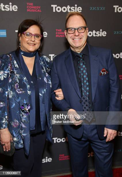 Carol Fineman and Scott Sanders the Broadway Opening Night of 'Tootsie' at The Marquis Theatre on April 22 2019 in New York City