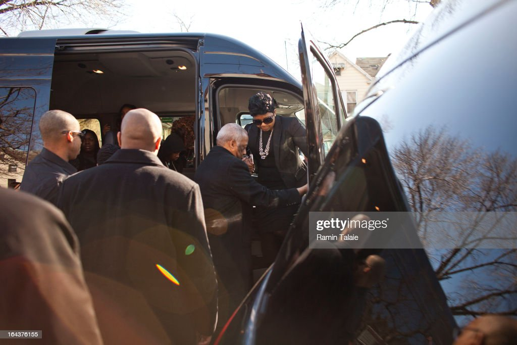 Carol Gray, mother of Kimani Gray, 16, arrives for her son's funeral at St. Catherine of Genoa Church on March 23, 2013 in the Brooklyn borough of New York City. Kimani Gray was shot and killed by New York police officers for allegedly pointing a gun at them.