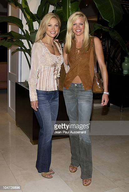 Carol Grow Nikki Ziering during Playboy/XM Night Calls Party at Le Meridien at Le Meridien Hotel in Beverly Hills California United States