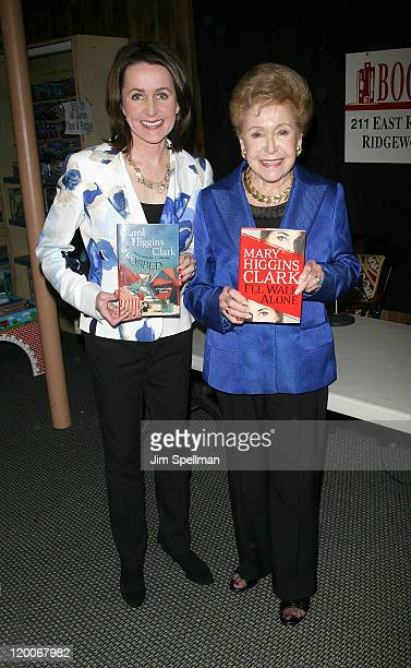 """Carol Higgins Clark and Mary Higgins Clark promote """"I'll Walk Alone"""" & """"Mobbed"""" at Bookends Bookstore on April 12, 2011 in Ridgewood, New Jersey."""