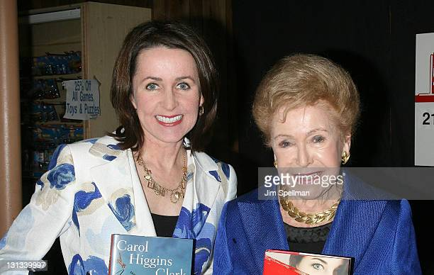 Carol Higgins Clark and Mary Higgins Clark promote I'll Walk Alone Mobbed at Bookends Bookstore on April 12 2011 in Ridgewood New Jersey