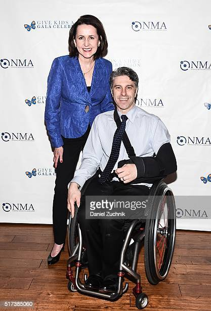 Carol Higgins Clark and Victor Calise attend the 2016 Broadway Supports The NMA at Sardi's on March 24 2016 in New York City