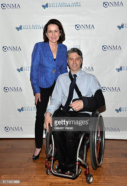 Carol Higgins Clark and Victor Calise attend the preshow reception for annual 'Give Kids a Shot Gala Celebration' Broadway's support for The National...