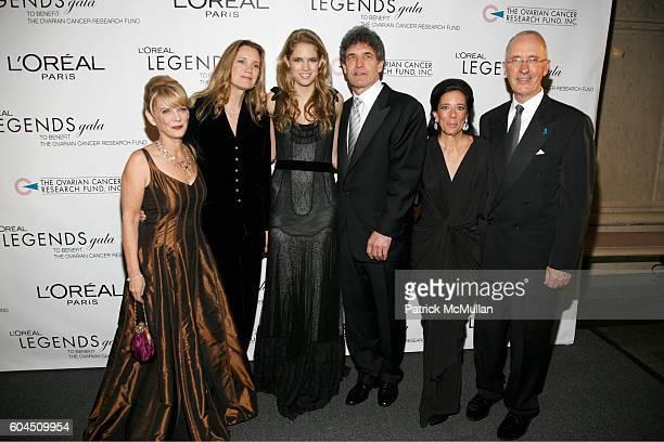 Carol J Hamilton Cindy Harrel Horn Cody Horn Alan Horn Faith Kates Kogan and Joe Campinell attend L'OREAL Legends Gala Benefiting The Ovarian Cancer...