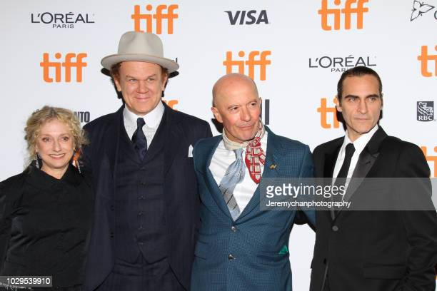 Carol Kane John C Reilly Jacques Audiard and Joaquin Phoenix attend the 'The Sisters Brothers' Premiere during the 2018 Toronto International Film...