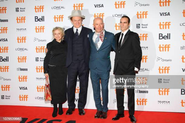 """Carol Kane, John C. Reilly, Jacques Audiard, and Joaquin Phoenix attend the """"The Sisters Brothers"""" Premiere during the 2018 Toronto International..."""