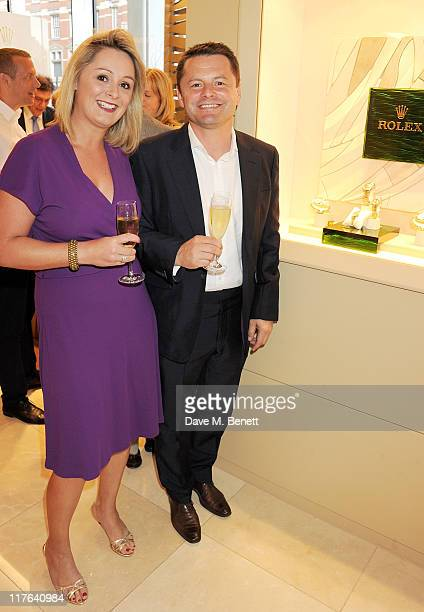 Carol Kirkwood and Chris Hollins attend the opening of the Rolex store at One Hyde Park on June 29 2011 in London England