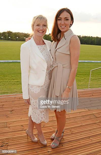 Carol Kirkwood and Sally Nugent attend day two of the Audi Polo Challenge at Coworth Park on May 29 2016 in London England