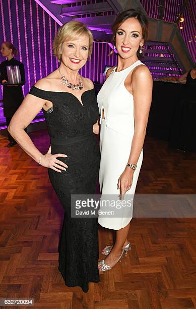 Carol Kirkwood and Sally Nugent attend the National Television Awards cocktail reception at The O2 Arena on January 25 2017 in London England